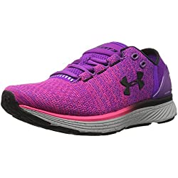 Under Armour UA W Charged Bandit 3, Zapatillas de Running para Mujer, Morado (Purple Rave), 38 EU
