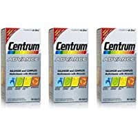 3 x Centrum Advance 100 Tablets by Centrum