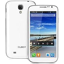 Cubot 5 pulgadas P9 Android 4.2 teléfono elegante 3G MTK6572 Dual Core 1.3GHz IPS QHD pantalla 512MB RAM 4GB ROM GPS 8MP cámara - blanco