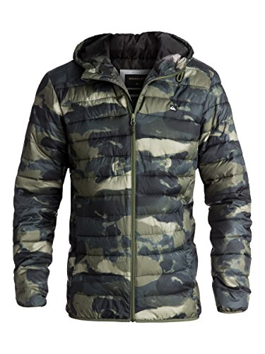 Quiksilver Men's Everyday Scaly Insulated Puffy Jacket, Four Leaf Clover Resin Camo, XS
