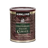 2 X Kirkland Signature 100% Colombian Filter Coffee Supremo Bean Dark Roast Fine Grind 1.36kg
