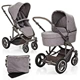 ABC Design Kombi Kinderwagen Set 2in1 Catania 4 Air mit Luftreifen - Babywanne und Sportwagen inkl. XXL Zubehör Set (Wickeltasche, Regenschutz, Handyhalter etc.)