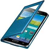Samsung EF-CG900BEEGWW Flip Cover mit Sichtfenster in elektrisch blau für Samsung Galaxy S5