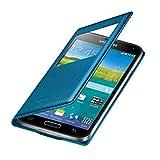 Samsung EF-CG900BEEGWW Flip Cover mit Sichtfenster in elektrisch blau Galaxy S5