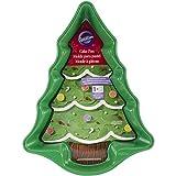 Wilton Piastra Antiaderente Albero di Natale Piastra Antiaderente Albero di Natale, Acciaio, Nero,