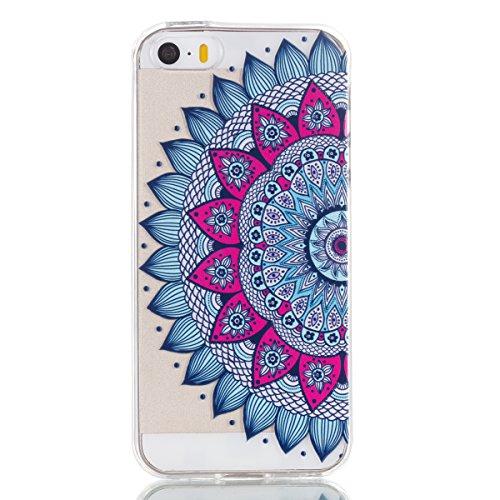 iPhone 5S / iPhone SE Hülle, Voguecase Silikon Schutzhülle / Case / Cover / Hülle / TPU + PC Gel Skin für Apple iPhone 5 5G 5S SE(Weiße/my phone) + Gratis Universal Eingabestift Bunt Teppich 06