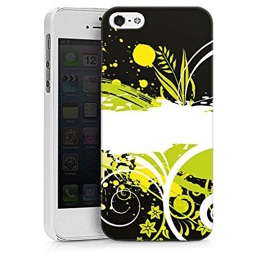 Apple iPhone X Silikon Hülle Case Schutzhülle Blumen Muster Abstrakt Hard Case weiß