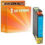 Gorilla-Ink® Sparset 1x Tintenpatrone XXL GI1812 Cyan ersetzt Epson Expression Home XP-402 XP-405 XP-412 XP-413 XP-415 XP-420 XP-422 XP-425