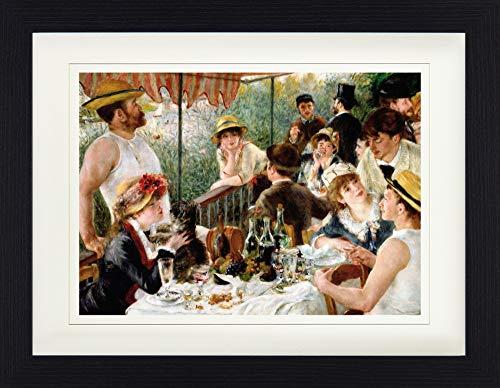 1art1 113474 Pierre Auguste Renoir - Das Frühstück Der Ruderer, 1880-1881 Gerahmtes Poster Für Fans Und Sammler 40 x 30 cm