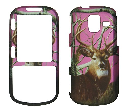 2D Pink Camo Buck Deer Realtree Samsung Intensity III - 3 U485 Verizon Case Cover Hard Phone Case Snap-on Cover Rubberized Touch Faceplates