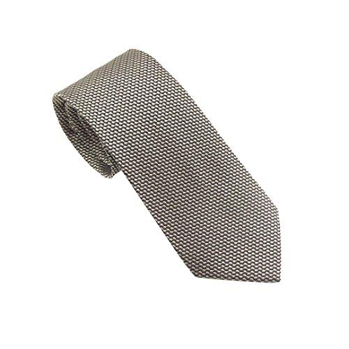 Van Buck England Herren Krawatte Einheitsgröße Gr. Einheitsgröße, silber Basket Weave Silk Tie