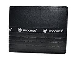 Moochies Gents leather wallet, Size-10x12x2 CMS, Color-Black