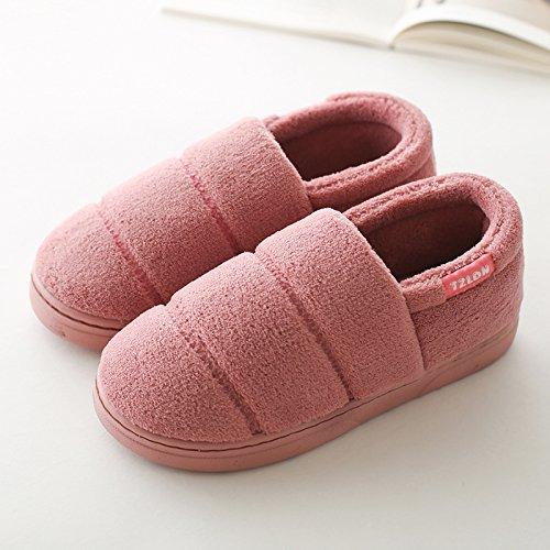 DogHaccd pantofole,La sig.ra cotone pantofole scarpe invernali con spessi pacchetto per le coppie home soggiorno con una calda piscina antiscivolo pantofole di lana maschio Pelle di colore rosso2