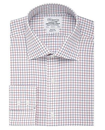 tmlewin-mens-non-iron-check-regular-fit-button-cuff-shirt-navy-red-17