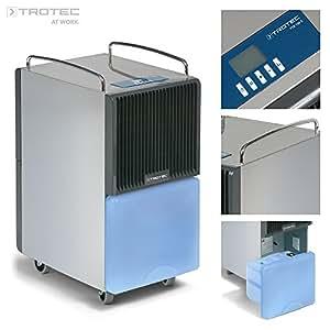 TROTEC TTK 120 E Déshumidificateur d'air, Déshumidificateur Electrique, Déshumidificateur Portable, Absorbeur d'humidité, Déshumidification max. 30 l/j, pour 95 m² max., Hygrostat intégré