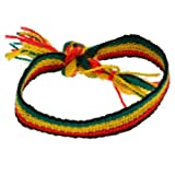 Jewellery of Lords 10mm Wide Rasta Rastafari Woven African Friendship Bracelet Wristband Green Yellow Red