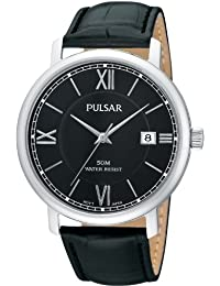Pulsar Uhren PS9075X1 - Reloj analógico para caballero de cuero negro