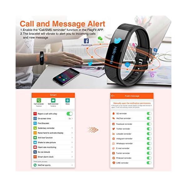 ELEGIANT Pulsera de Actividad Inteligente Reloj Deportivo IP67 para Hombre Mujer con GPS Monitor de Sueño Podómetro… 5