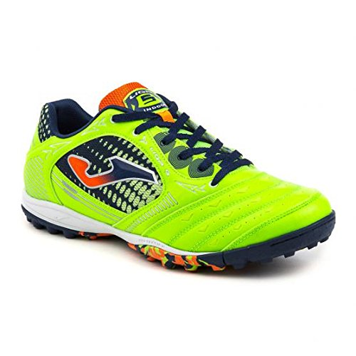 JOMA CALCETTO LIGA-5 AW 615 GREEN FLUOR-NAVY-ORANGE TURF 46
