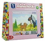 Ministeck 32585–Pony con Perro, steckplatte, Accesorios, Aprox. 300de Piezas, Negro