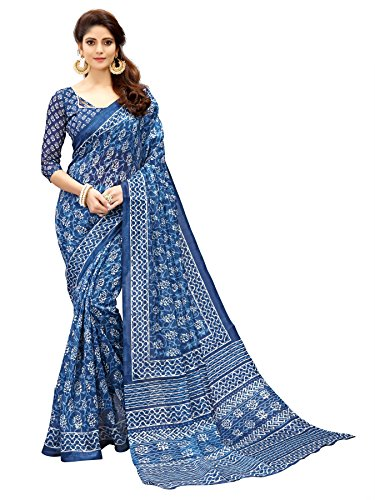 Glory Sarees Women\'s Bhagalpuri Art Silk Saree(gloryart14_blue)
