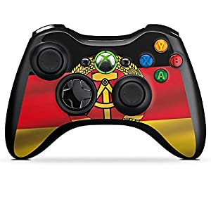 DeinDesign Skin kompatibel mit Microsoft Xbox 360 Controller Aufkleber Folie Sticker DDR Flagge Flag