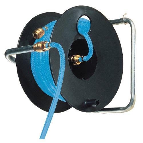 Brennenstuhl Enrouleur tuyau à air Professionnel (20 m) avec tuyau pneumatique Ø 6/12 mm, raccords rapides et Tambour Noir, Garantie 3 ans, Fabrication Francaise