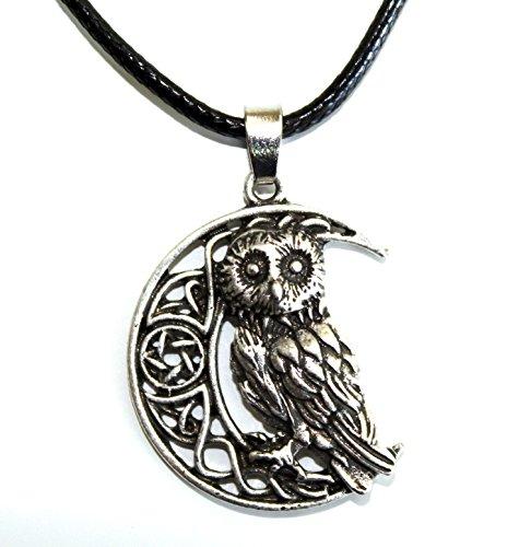 (Halskette mit Anhäger, Motive: Eule/Mond/Stern/Keltisch/Wikinger. Originelle Geschenkidee für Männer, Frauen und Jugendliche)