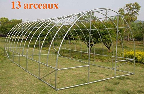 test avis serre de jardin tunnel anti temp te 13 arceaux pro 18m2 b. Black Bedroom Furniture Sets. Home Design Ideas