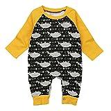 XXYsm Unisex Baby Junge Mädchen Strampler Overalls Langarm Jumpsuit Playsuits Kleidung Schwarz 80/6-12 Monate