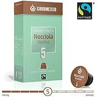 Gourmesso Soffio Nocciola (Haselnuss) - 50 Nespresso kompatible Kaffeekapseln - Fairtrade