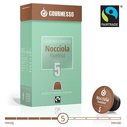 Gourmesso Soffio Nocciola (Haselnuss) - 10 Nespresso kompatible Kaffeekapseln - Fairtrade