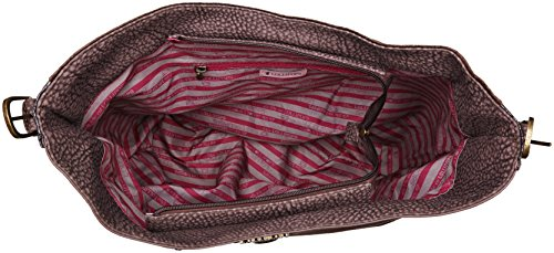Lollipops Damen Atak Hobo Schultertasche, 11x37x36 cm Braun (Brown)