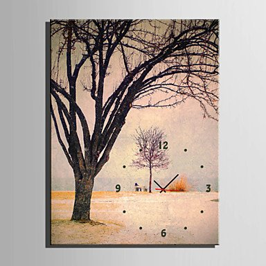 Y & M rectangulaire moderne/contemporain Horloge murale, Autres tela35 x 50 cm (14inchx20inch) x1pcs/40 x 60 cm (16inchx24inch) x1pcs/50 x 20\
