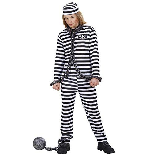 inder Sträflingskostüm 158 cm 11-13 Jahre Verbrecher Häftlingskleidung Ganove Schwerverbrecher Outfit Häftlingskostüm Gefangener Alcatraz Psycho Verbrecherkostüm Karnevalskostüme Jungen ()