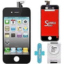 SANKA LCD Pantalla Táctil con Marco de Digitalización Asamblea Pantalla de Recambio para iPhone 4 - Negro