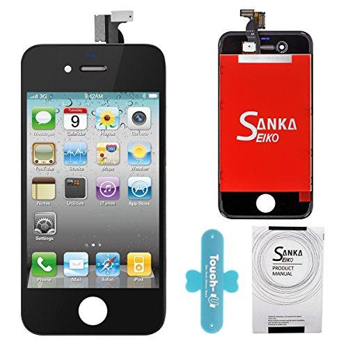 SANKA LCD Display Ersatz Bildschirm +Digitizer Touchscreen Front Glas für iPhone 4G Komplett in schwarz 4 Lcd-bildschirm-ersatz
