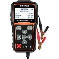 FOXWELL Comprobador de batería de coche, sistema de carga, analizador de baterías de coche y sistema de carga/inicio de 12V/24V