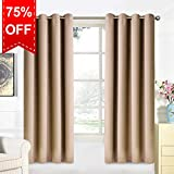 Warm Harbor 2 Panels Blackout Curtains Super Soft Thermal Insulated Window Treatment For