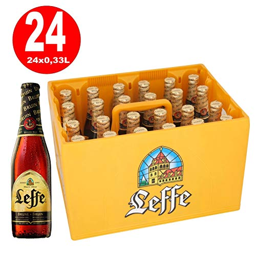 24 x Leffe bruin, brune Klosterbier 0,33 Originalkiste 6,5{119b14c16e115077177cd5edeab4513ffe597c26bcee5f1013589f3251b55b19} Vol. alc MEHRWEG