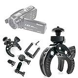 DURAGADGET Soporte universal tipo pinza para manillar de bicicleta para Videocámara Besteker Z18 | Besteker Z80 | F5 | PowerLead Puto PLD003 Mini | Mpman PC30FHD