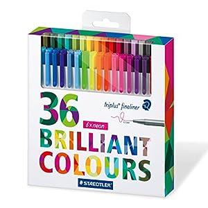 Staedtler 334 C36 – Pack de 36 rotuladores de punta fina, tinta multicolor