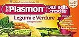 Plasmon - Alimento per l'Infanzia Omogeneizzato, Legumi e Verdure, 2 x 80 g - 160 g