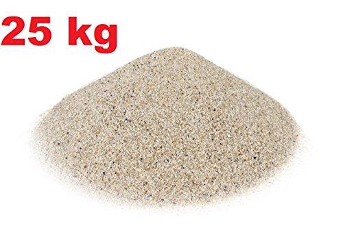 123home24.com Quarzsandfraktion 0,4-0,8 mm 25 kg - Einsatz für Sandfilterpumpen