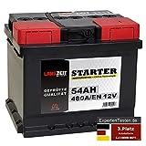 LANGZEIT Starter Serie 12V 44Ah - 105Ah Autobatterie Starterbatterie, KFZ PKW Batterie (54Ah)