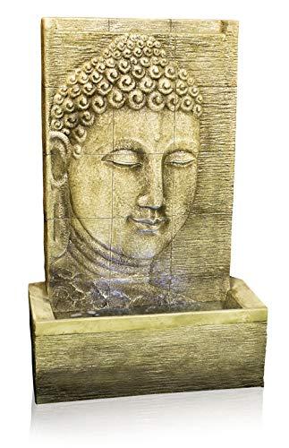 Ambiente 100cm Buddha Brunnen Nirvana Mit LED Beleuchtung