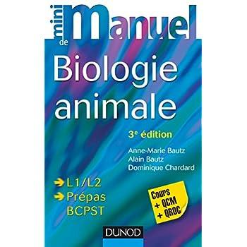Mini manuel de Biologie animale - 3e éd. - Cours et QCM/QROC