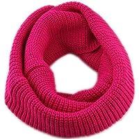 TININNA Unisex Invernali Caldo fatto a mano Lavorato a maglia crochet circle Sciarpa scalda collo Sciarpe Rose Rosso