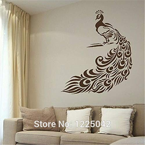 Stycars®, Wall Stickers Peacock Big Tail Feathers Vinyl Wall Paper Decal Art Wall Decal Mural Home Decor [Size: Large] -