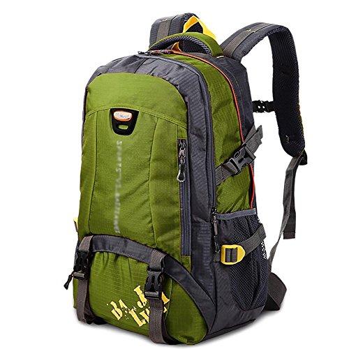 HWLXBB Outdoor Bergsteigen Paket Männer und Frauen 40L Wasserdichte Mehrzweck-Bergsteigen Tasche Wandern Camping Bergsteigen Rucksack 2*